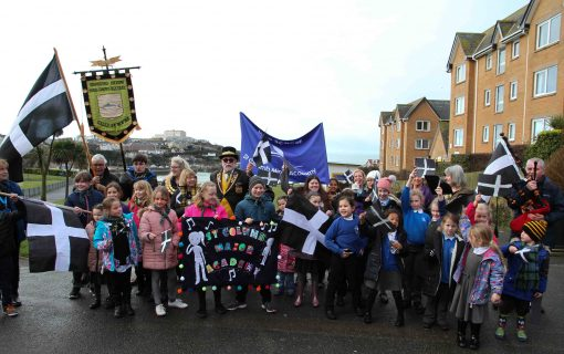 In pictures: Newquay brings out the flags and tartan for St Piran