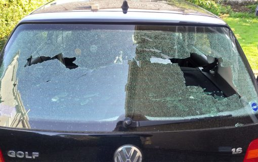 Local Student and DJ has car damaged in mystery crime