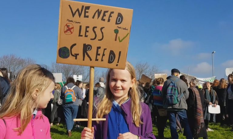 Truro's students strike for climate change