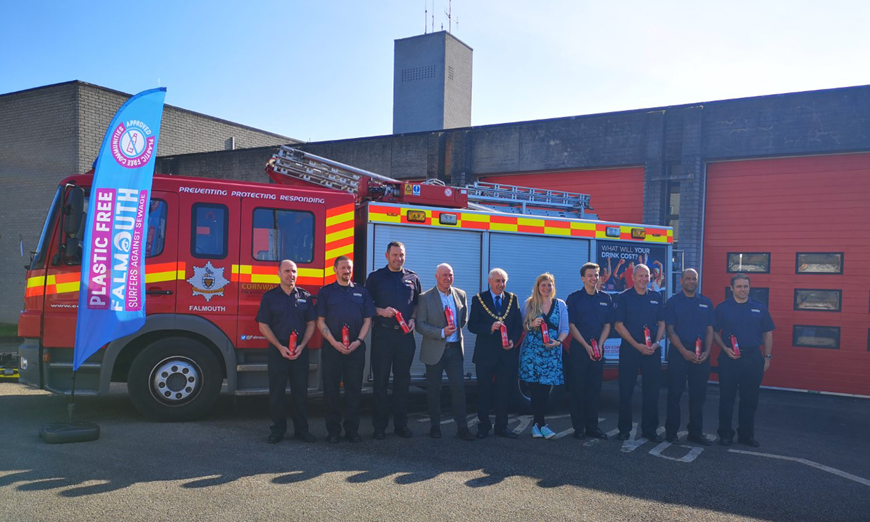 Plastic free: UK first for Falmouth Fire Brigade