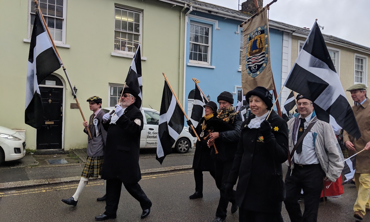 Truro celebrates St Piran's Day 2019