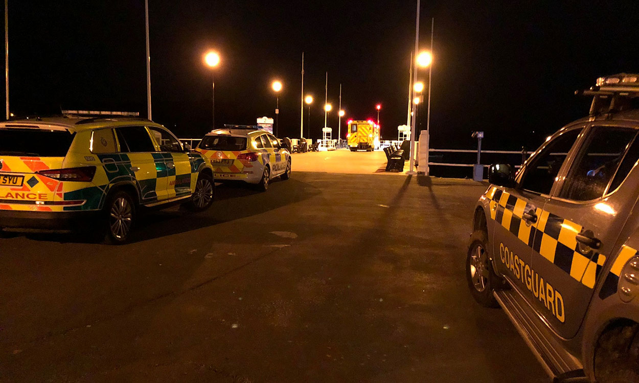 Late night rescue as two men stranded by Prince of Wales Pier
