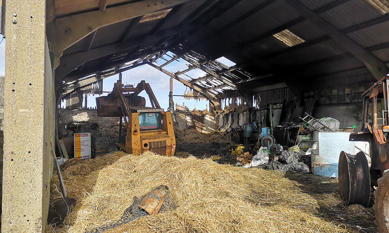 Arson thought to have caused Falmouth barn fire