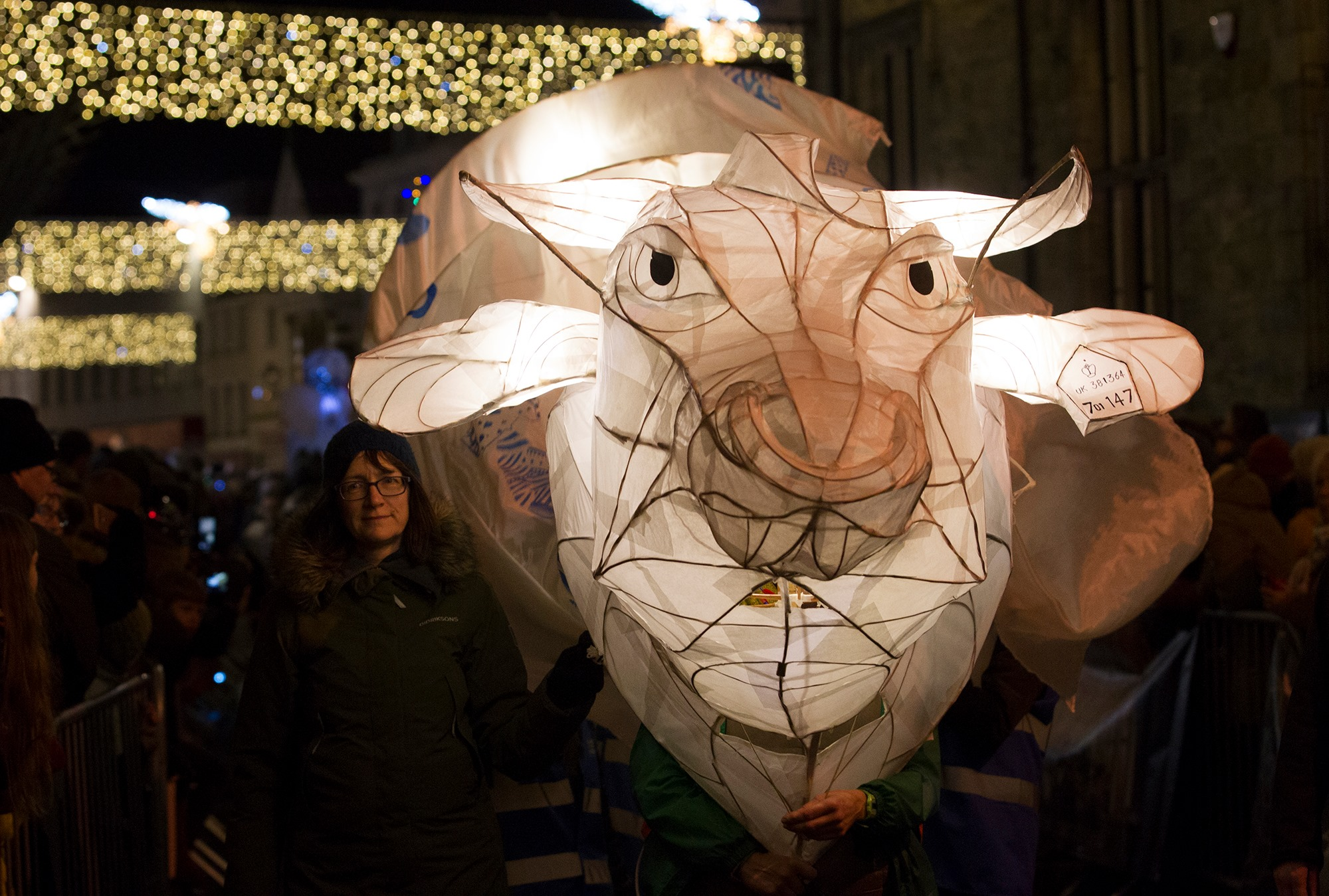 In the crowd, under the clocktower: Truro City of Lights 2019
