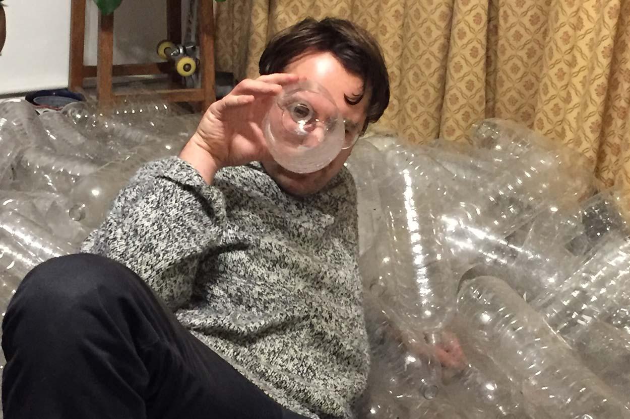 Plea for plastic bottles for makeshift greenhouse