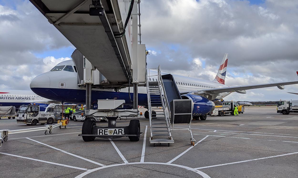 A British Airways A320 Aircraft at London Gatwick