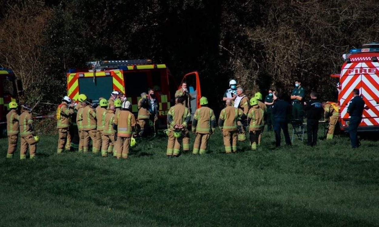 Two pilots ejected as Royal Navy jet crashes in Cornwall