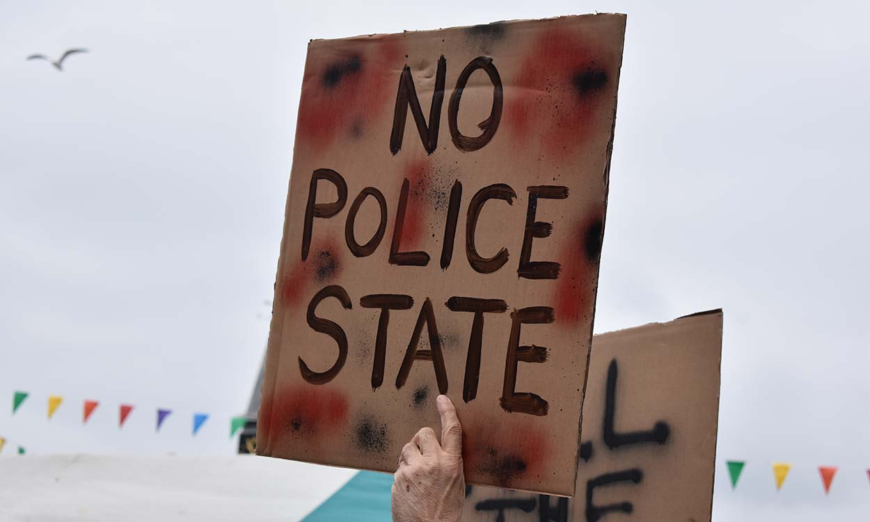 Police state sign